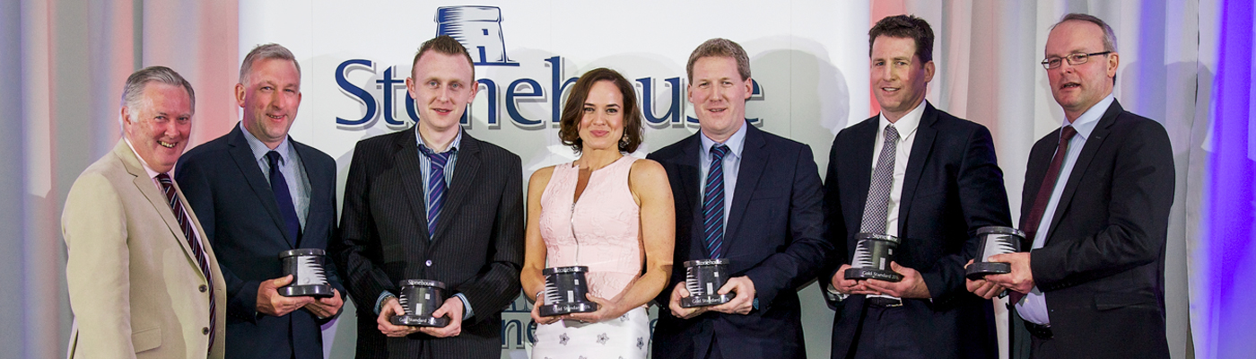 We received a Gold Standard awards at the Annual Stonehouse awards weekend, Radisson Blu, Sligo